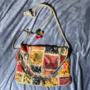 Hippie / bohemian purse with beautiful colors